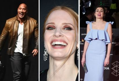 Dwayne Johnson, Jessica Chastain and Marta Nieto