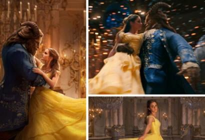 """Scenes from """"Beauty and the Beast"""" movie with Emma Watson and Dan Stevens"""