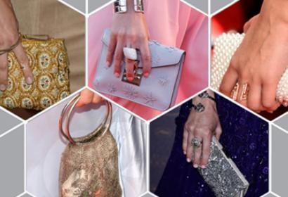 Various red carpet purses