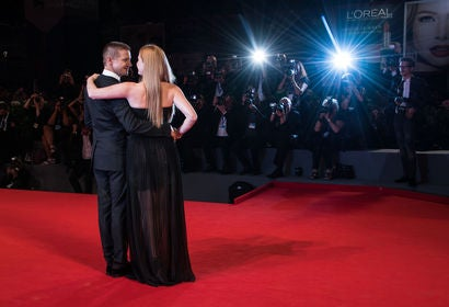 Actors Amy Adams and Jeremy Renner, Golden Globe nominees, im Venice 2016