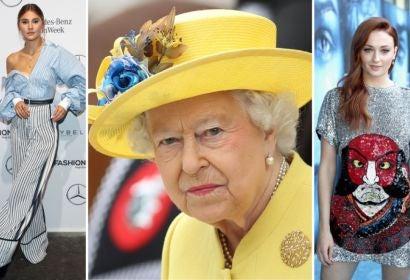 Stefanie Giesinger, Queen Elizabeth II and Sophie Turner