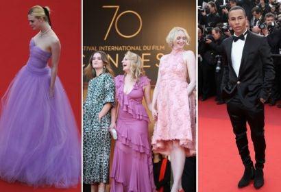 Elle Fanning; Alice Englert, Elisabeth Moss and Gwendoline Christie; Olivier Rousteing