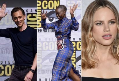 Tom Hiddleston (Thor: Ragnarok), Danai Gurira (Black Panther) and Halston Sage (The Orville)