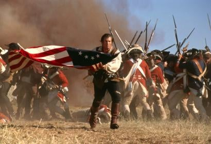 "Golden Globe winner Mel Gibson in ""The Patriot"""