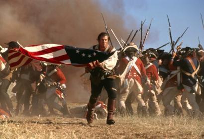 """Golden Globe winner Mel Gibson in """"The Patriot"""""""