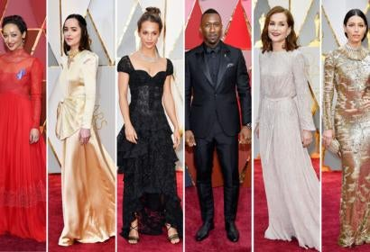 Ruth Negga, Dakota Johnson, Alicia Vikander, Mahershala Ali, Isabelle Huppert and Jessica Biel at the Oscars