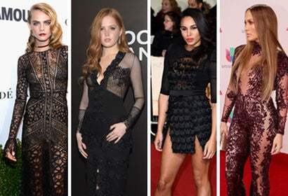 """Cara Delevingne, Ellie Bamber, Louise Hazel and Jennifer Lopez balancing on the edge of """"how much flesh is too much?"""""""