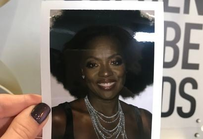 golden globes 2018: Polaroid of winner Viola Davis
