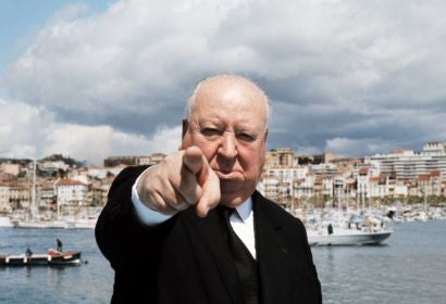 Filmmaker Alfred Hitchcok in Cannes, 1972