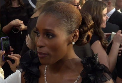 Issa Rae on 75th Golden Globes Red Carpet