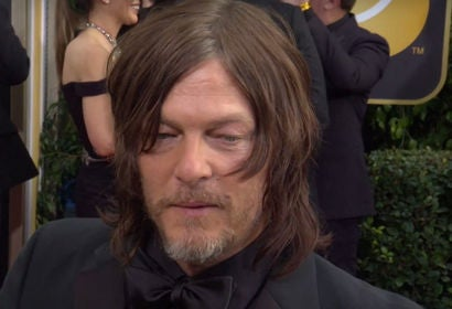 Norman Reedus on 75th Golden Globes Red Carpet