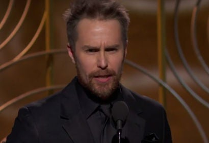 Sam Rockwell wins Best Supporting Actor in a Motion Picture