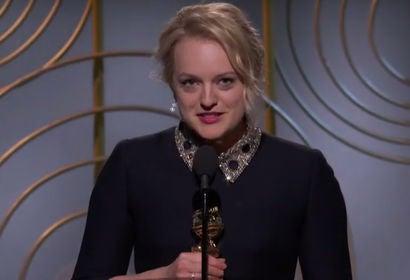 Elisabeth Moss Wins Best Actress in TV Series Drama