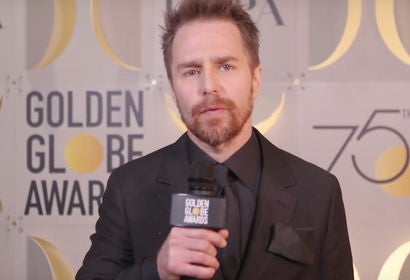 Sam Rockwell Winner's Stage