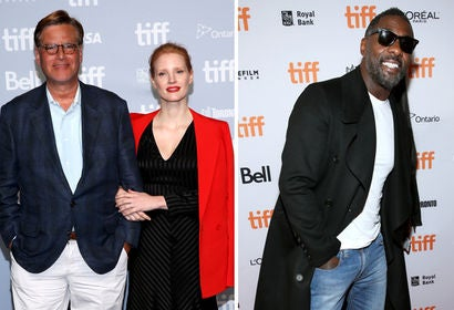 Aaron Sorkin, Jessica Chastain and Idris Elba