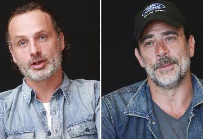 Andrew Lincoln and Jeffrey Dean Morgan