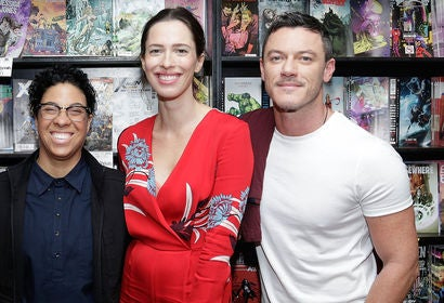 Angela Robinson, Luke Evans and Rebecca Hall