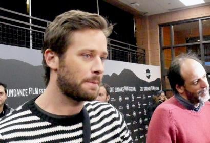 Armie Hammer and Luca Guadagnino