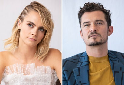 Cara Delevingne and Orlando Bloom