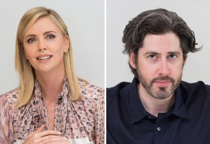 Charlize Theron and Jason Reitman