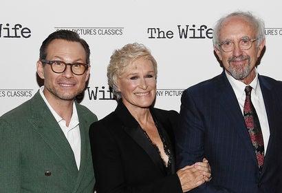 Christian Slater, Glenn Close and Jonathan Pryce