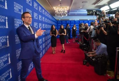 Christian Slater at HFPA Grants Banquet Red Carpet 2016