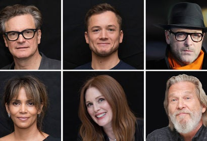 Colin Firth, Taron Egerton, Matthew Vaughn, Halle Berry, Julianne Moore and Jeff Bridges