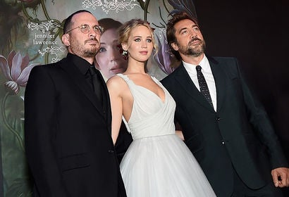 Darren Aronofsky, Jennifer Lawrence, Javier Bardem