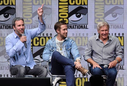 Denis Villeneuve, Ryan Gosling and Harrison Ford