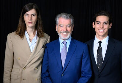Dylan, Pierce and Paris Brosnan