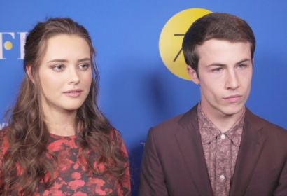 Dylan Minnette and Katherine Langford