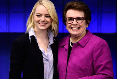 Emma Stone and Billie Jean King