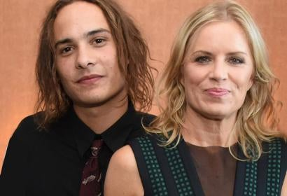Frank Dillane and Kim Dickens