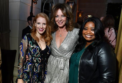 Jessica Chastain, Allison Janney and Octavia Spencer at the HFPA/InStyle party, Toronto 2017