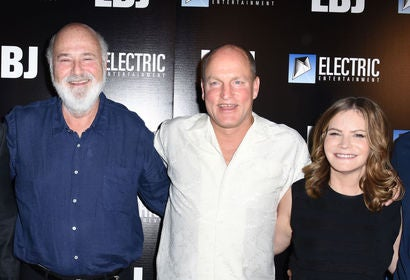 Rob Reiner, Woody Harrelson and Jennifer Jason Leigh
