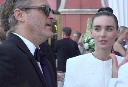 Joaquin Phoenix and Rooney Mara at HFPA Reception - Venice 2019