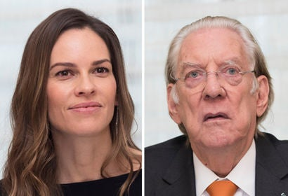 Hilary Swank and Donald Sutherland