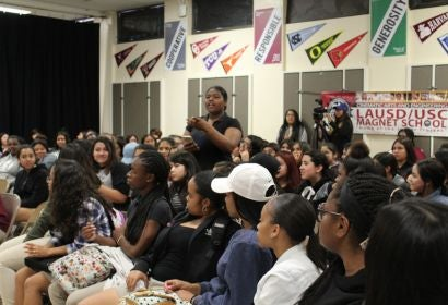 Women in Film panel at LAUSD/USC Media Arts & Engineering Magnet High School