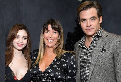 India Eisley, Patty Jenkins, Chris Pine