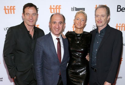 Jason Isaacs, Armando Iannucci, Andrea Riseborough and Steve Buscemi