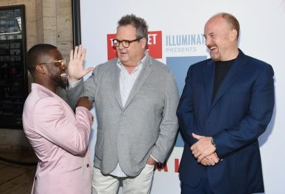 Kevin Hart, Louis C.K. and Eric Stonestreet