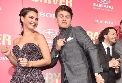 Lily James, Ansel Elgort and Edgar Wright