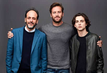 Armie Hammer, Timothée Chalamet  and Luca Guadagnino