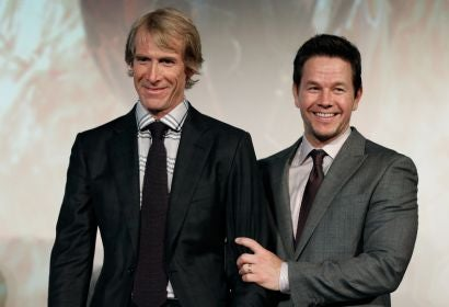 Michael Bay and Mark Wahlberg