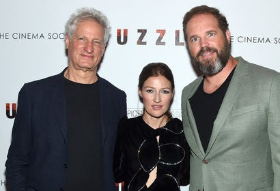 Marc Turtletaub, Kelly Macdonald and David Denham