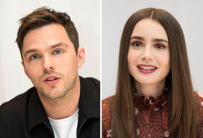 Nicholas Hoult and Lily Collins