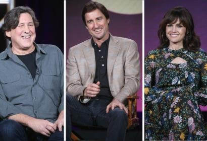 Cameron Crowe, Luke Wilson and Carla Gugino