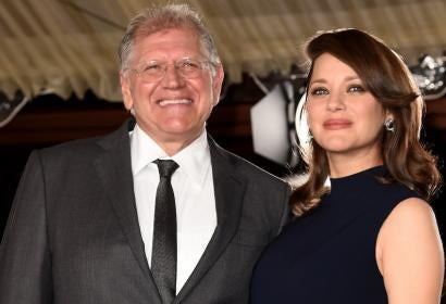 Robert Zemeckis and Marion Cotillard