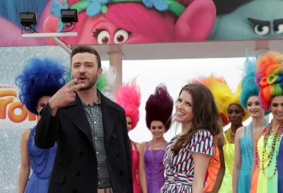 Justin Timberlake and Anna Kendrick - Trolls in Cannes