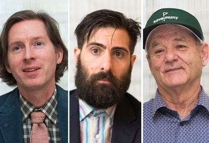 Wes Anderson, Jason Schwartzman and Bill Murray